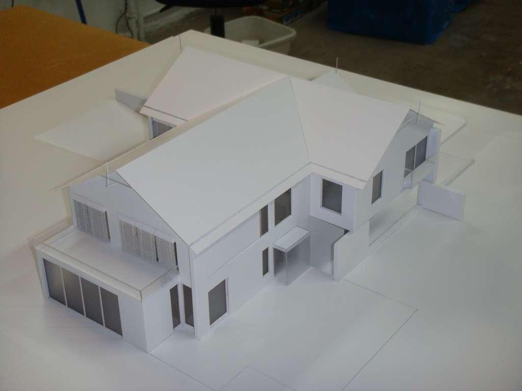 Makieta domu jednorodzinnego, widok 4