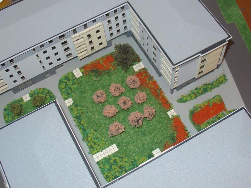 Makieta osiedla mieszkaniowego Eolian Park w Warszawie, widok 3