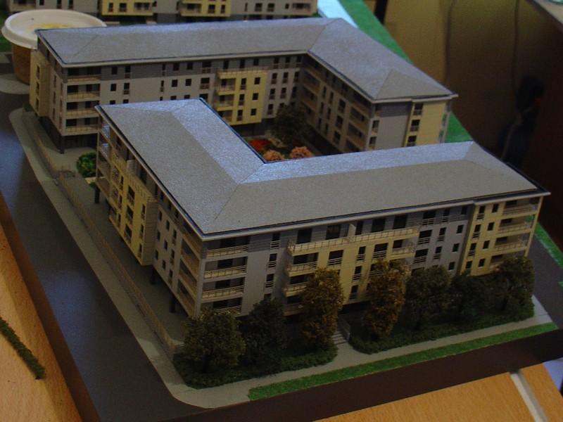 Makieta osiedla mieszkaniowego Eolian Park w Warszawie, widok 5