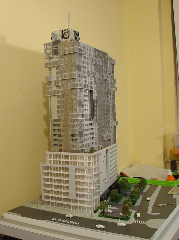 Makieta - Apartamentowiec Jupiter Plaza w Katowicach, widok 6