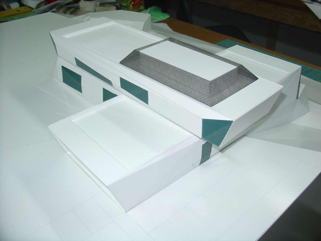 Makieta koncepcyjna - budynek muzeum, widok 3