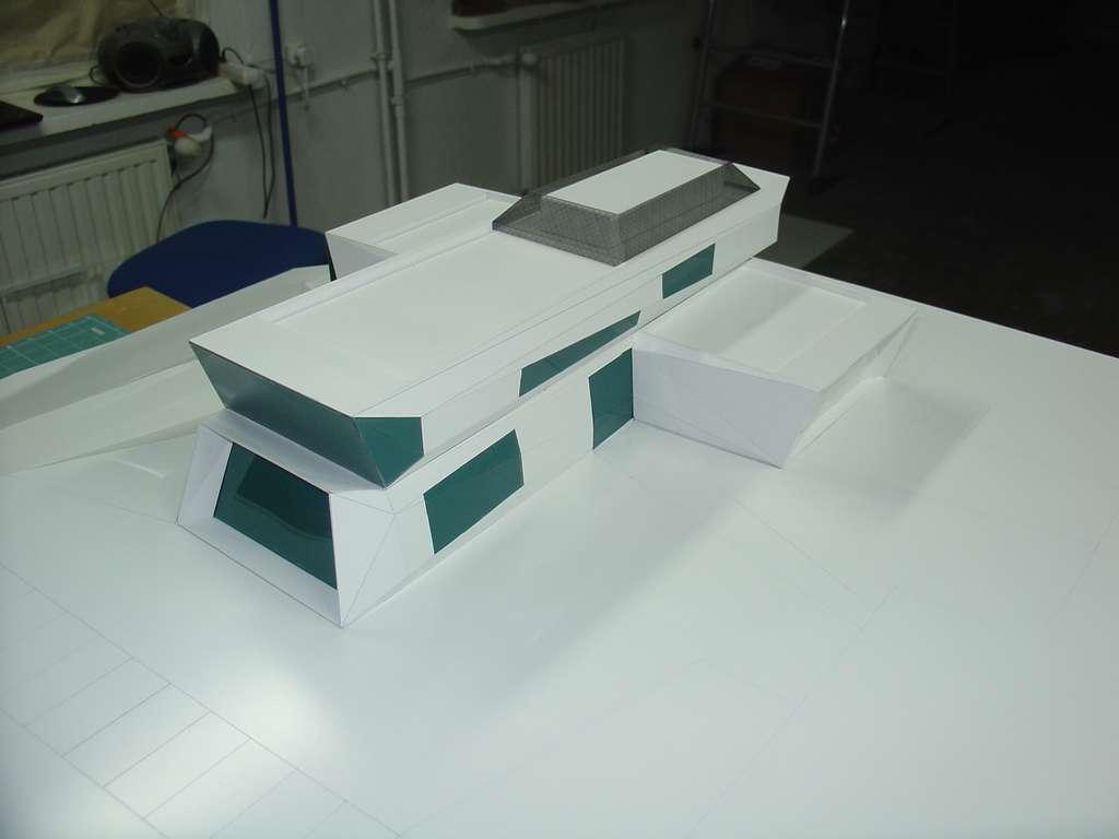 Makieta koncepcyjna - budynek muzeum, widok 4