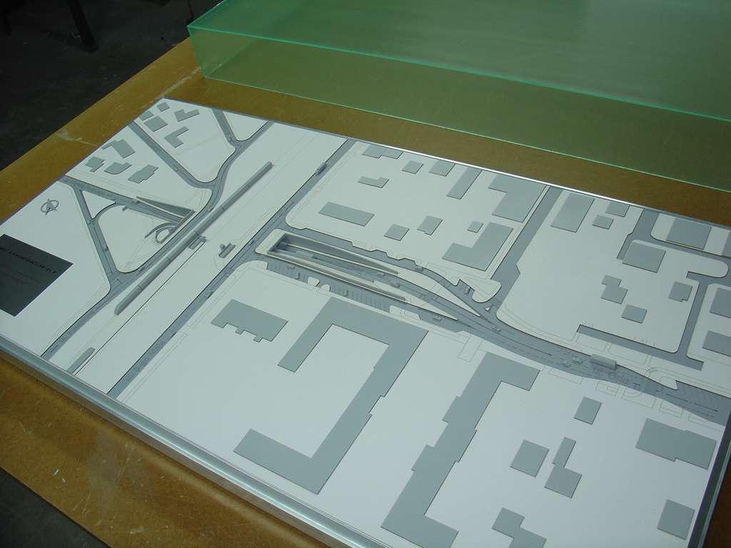 Makieta urbanistyczna - projekt tunelu Ząbki, widok 2