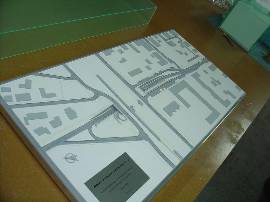 Makieta urbanistyczna - projekt tunelu Ząbki, widok 4