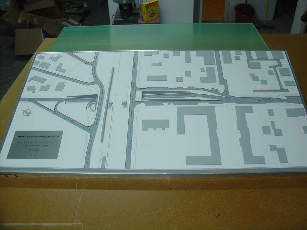 Makieta urbanistyczna - projekt tunelu Ząbki, widok 6
