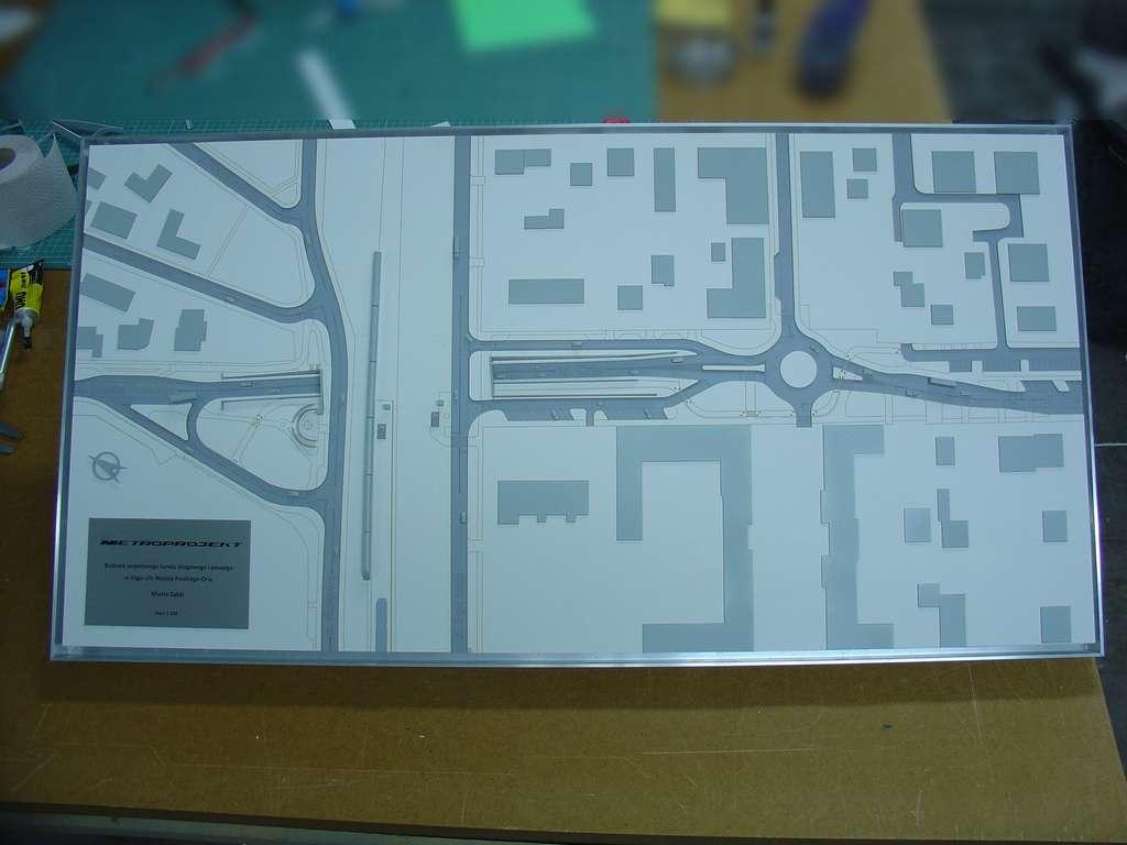 Makieta urbanistyczna - projekt tunelu Ząbki, widok 8