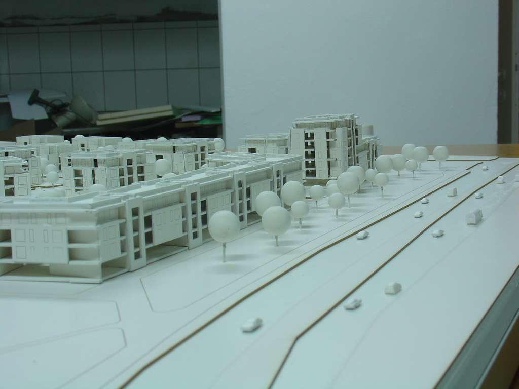 Makieta architektoniczna - konkursowa - Nowe Orłowo, widok 12