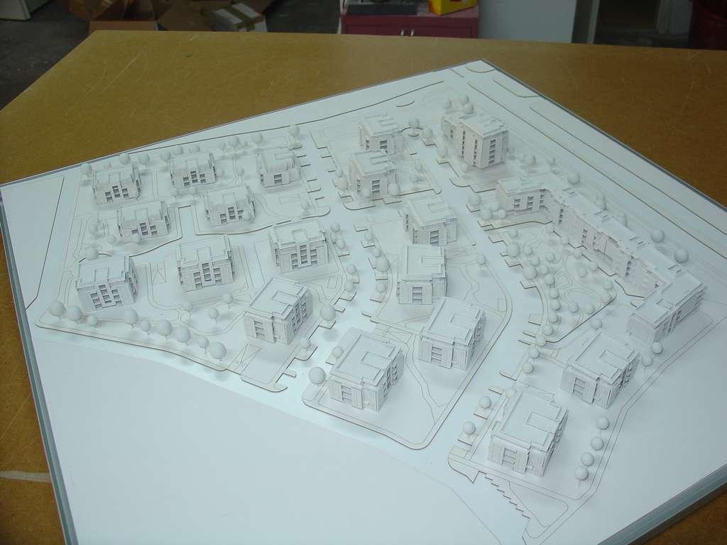 Makieta architektoniczna - konkursowa - Nowe Orłowo, widok 2