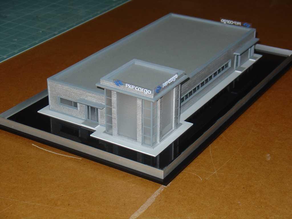 Makieta - budynek biurowy PKP Cargo, widok 1