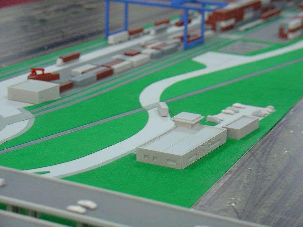 Makieta - terminal kontenerowy PKP Cargo, widok 14
