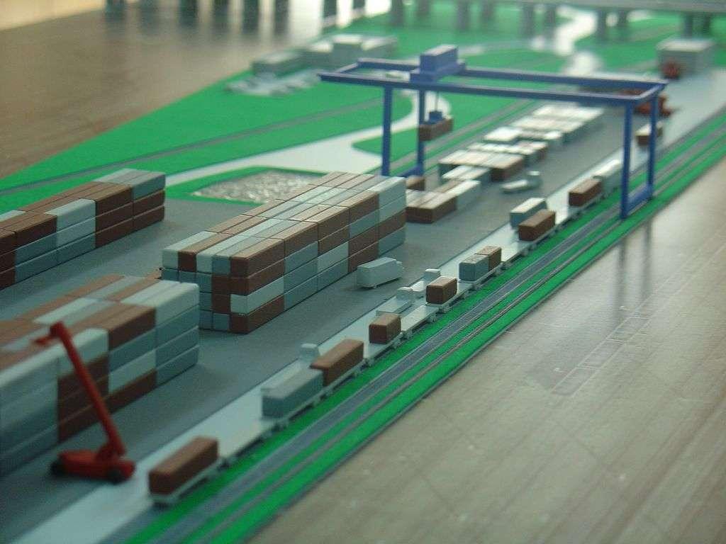 Makieta - terminal kontenerowy PKP Cargo, widok 16