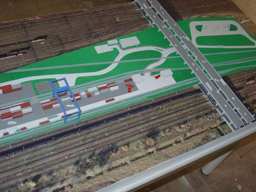 Makieta - terminal kontenerowy PKP Cargo, widok 2
