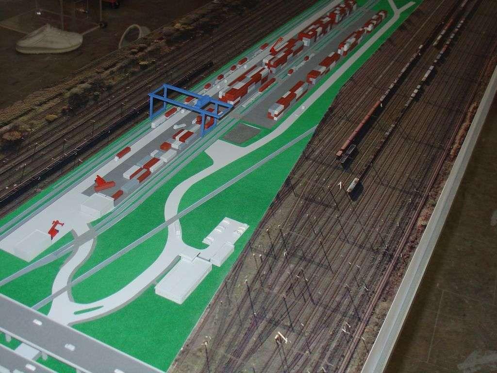 Makieta - terminal kontenerowy PKP Cargo, widok 6