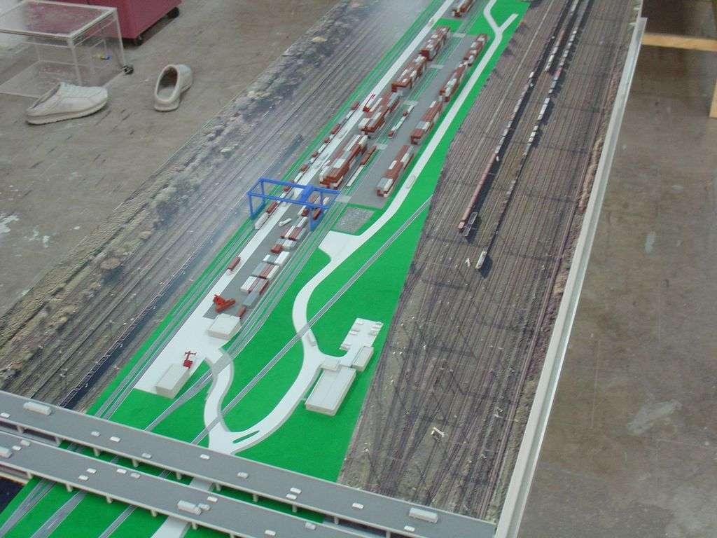 Makieta - terminal kontenerowy PKP Cargo, widok 8