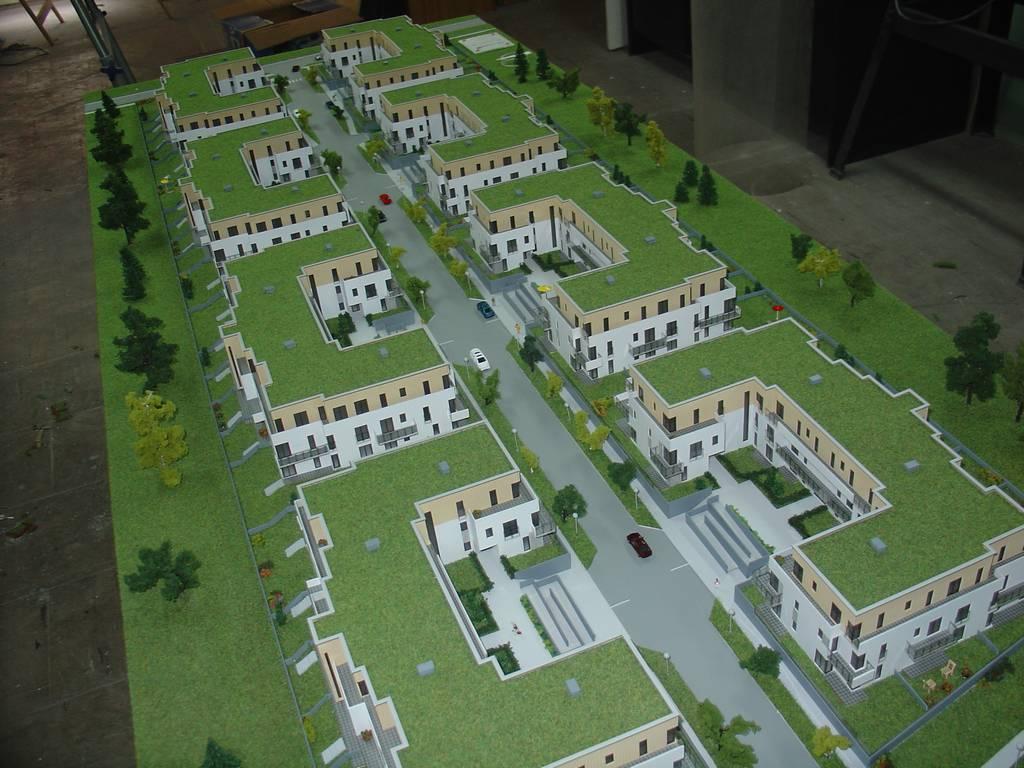 Makieta architektoniczna - Osiedla Queens Garden Józefosław, widok 1
