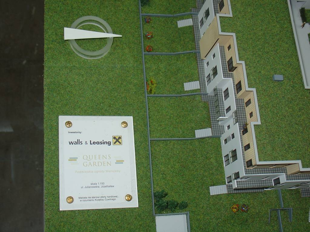 Makieta architektoniczna - Osiedla Queens Garden Józefosław, widok 11