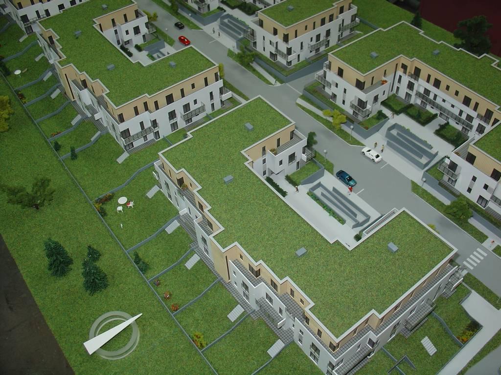Makieta architektoniczna - Osiedla Queens Garden Józefosław, widok 3