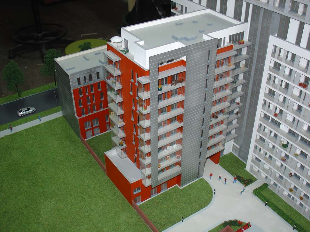 Makieta - Apartamentowiec Skierniewicka City, widok 11