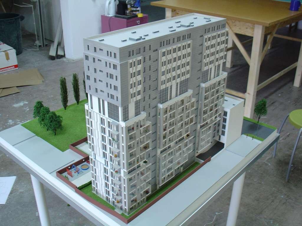 Makieta - Apartamentowiec Skierniewicka City, widok 3