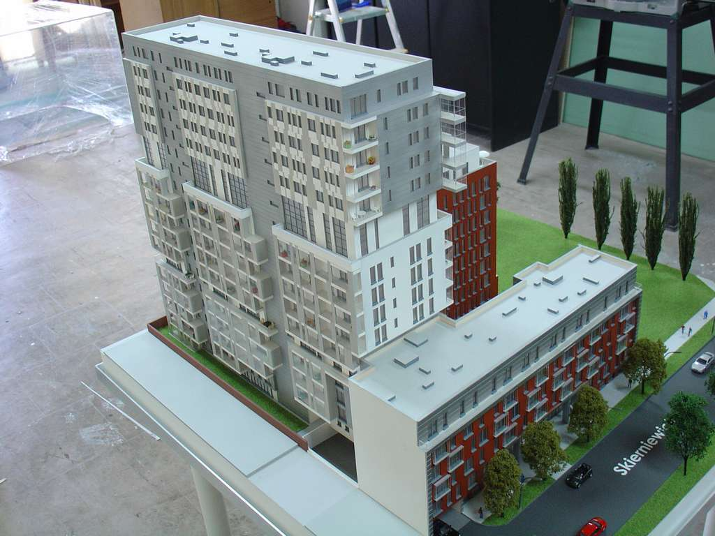 Makieta - Apartamentowiec Skierniewicka City, widok 4