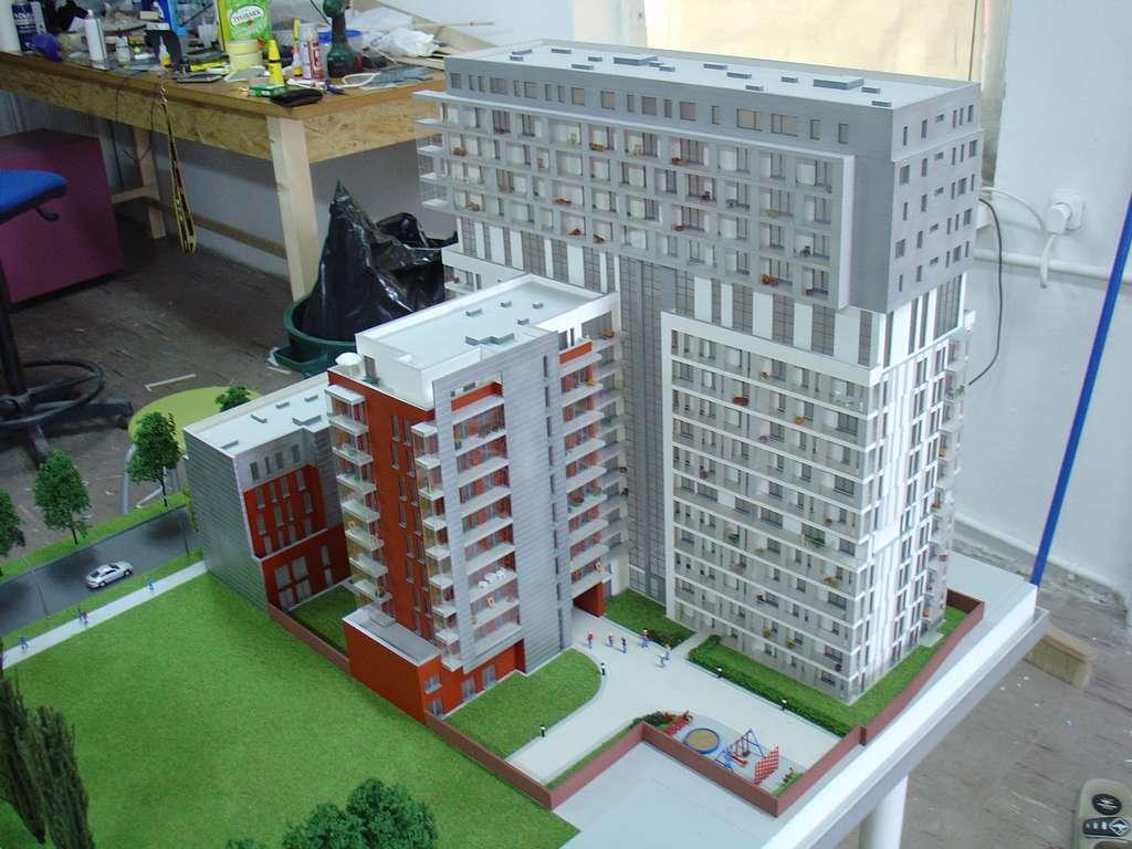 Makieta - Apartamentowiec Skierniewicka City, widok 6