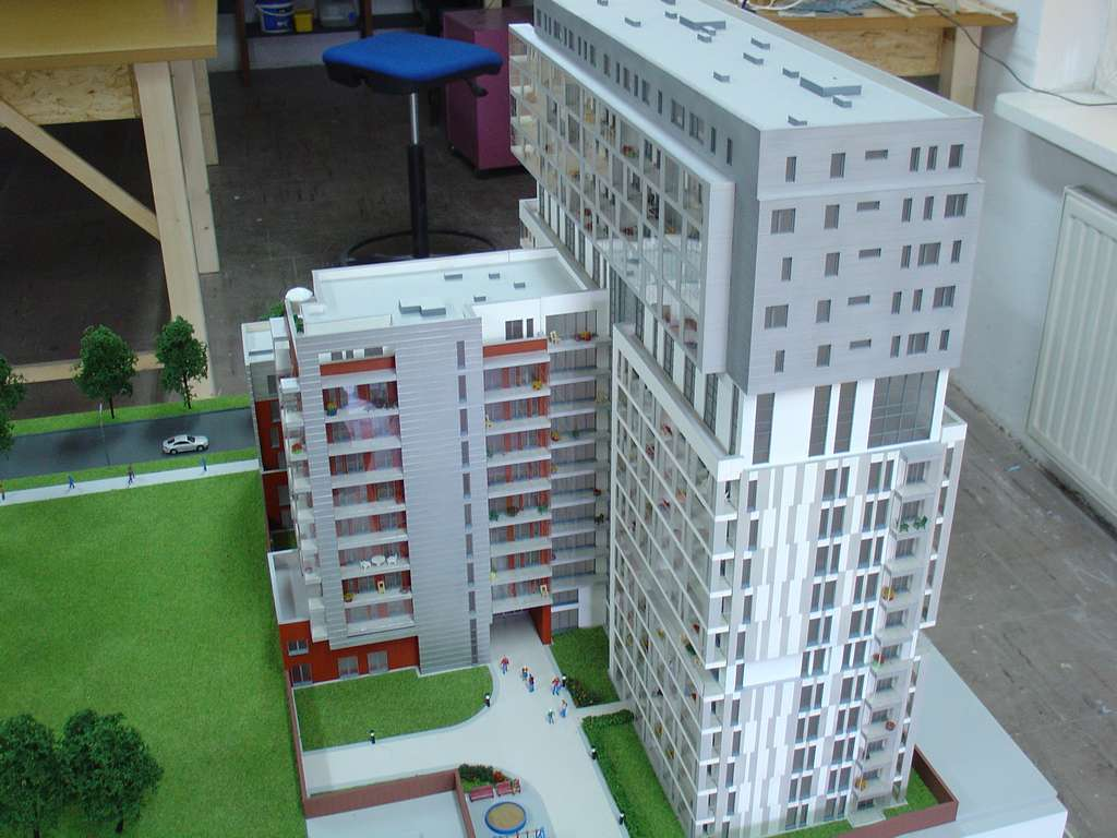 Makieta - Apartamentowiec Skierniewicka City, widok 7