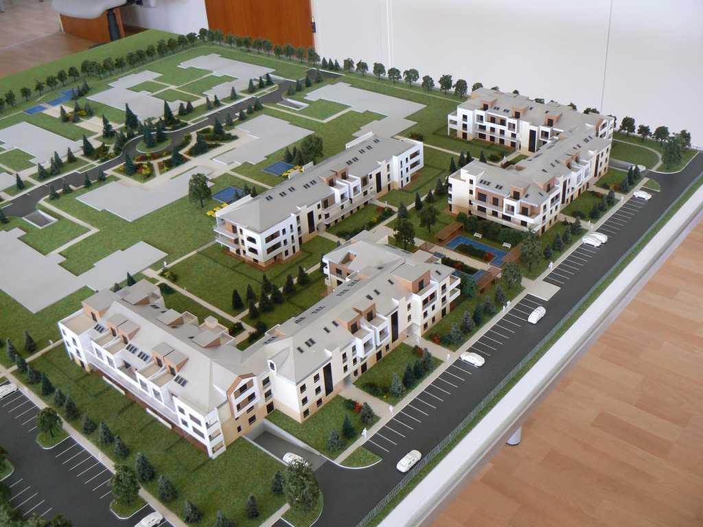 Makieta - Osiedle mieszkaniowe Walencja w Ożarowie, widok 1